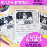 NO PREP Build A Sentence Activities For Grammar Intervention- Distance Learning