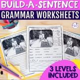 No Prep Grammar Worksheet: Build-A-Sentence