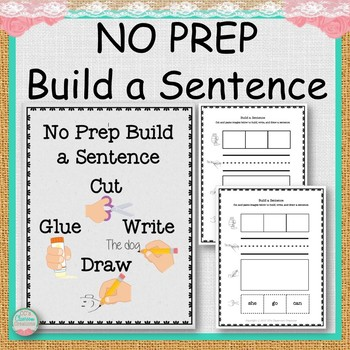 NO PREP Build a Sentence Worksheets
