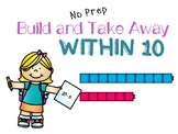 NO PREP Build and Subtract within 10 Powerpoint Activity