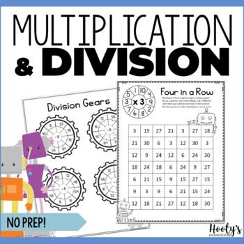 NO PREP Bundle - Multiplication & Division Fact Practice