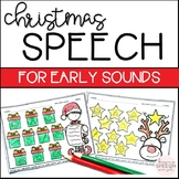 NO PREP CHRISTMAS WORKSHEETS - EARLY SOUNDS - FOR SPEECH THERAPY