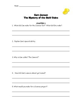 NO PREP Cam Jansen and the Gold Coin Mystery Chapter Quizzes