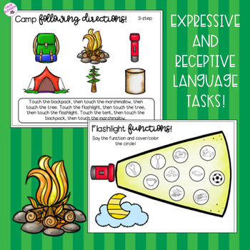 NO PREP Camp-Themed Activities for Speech and Language Therapy!