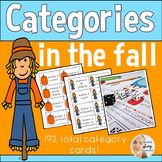 NO PREP Categories for Speech Therapy with a Fall Theme