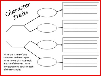 NO PREP Character Traits Printable Worksheet