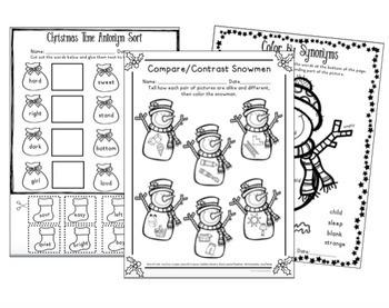NO-PREP Christmas Language Pack: Speech Therapy-ELA