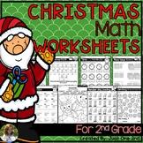 NO PREP Christmas Math Worksheets for 2nd Grade