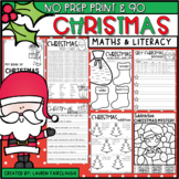 NO PREP Christmas Math and Literacy