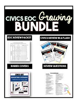NO PREP Civics EOC Review Growing Bundle Free Updates for ...