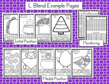 No Prep Articulation Crafts for the Year & Progress Monitoring (Blends R, S, L)