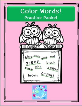 No Prep!!!  Color Words Practice Packet