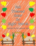 NO PREP Color by Sight Word - Fall Theme