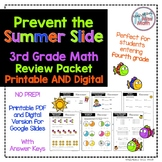 "NO PREP Common Core Aligned Third Grade Math Review ""Prevent the Summer Slide"""
