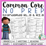 No Prep Reading and Writing: Standard 8 {includes tests an