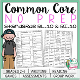 No Prep Reading and Writing: Standard 10 {includes tests a