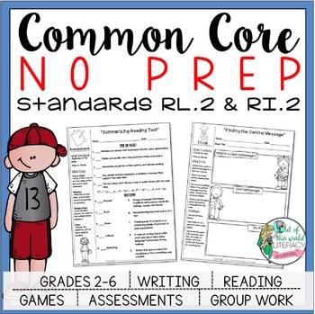 No Prep Reading and Writing: Standard 2 {includes tests and quizzes!}