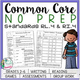 No Prep Reading and Writing: Standard 4 {includes tests and quizzes!}
