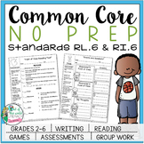 No Prep Reading and Writing: Standard 6 {includes tests and quizzes!}