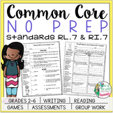 No Prep Reading and Writing: Standard 7 {includes tests an