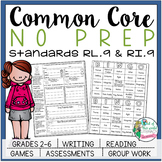 No Prep Reading and Writing: Standard 9 {includes tests and quizzes!}