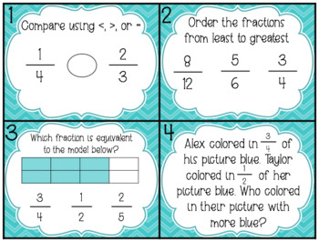 NO PREP Comparing Fractions Math Rotations