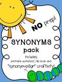 "NO PREP! Complete Synonym Pack! ""Synonym-pillar"" Craftivit"