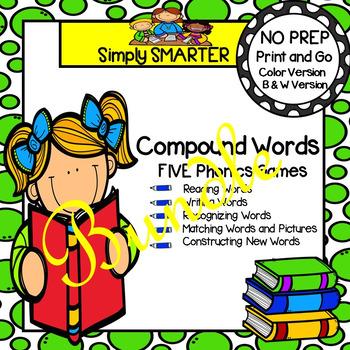 NO PREP Compound Word Games Bundle