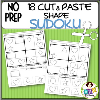 No Prep● Cut and Paste ● Shape Sudoku ● Games ● Puzzles