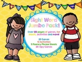 NO PREP DIFFERENTIATED SIGHT WORD JUMBO PACK! (over 130 activities & games!)