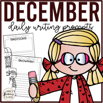NO PREP Daily Journal Writing Prompts for December