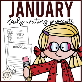 NO PREP Daily Journal Writing Prompts for January