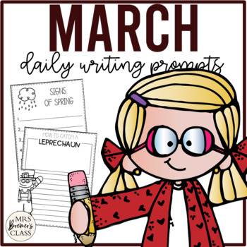 NO PREP Daily Journal Writing Prompts for March