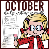 NO PREP Daily Journal Writing Prompts for October