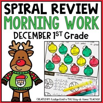 NO PREP December Spiral Review Morning Work