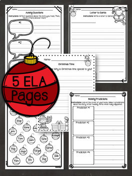 Sub Plans - NO PREP Review Worksheets for December {2nd Grade}