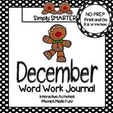 NO PREP December Word Work Journal