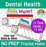 NO PREP Dental Health Line Tracing Preschool