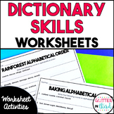 Dictionary Skills Worksheets & Printables