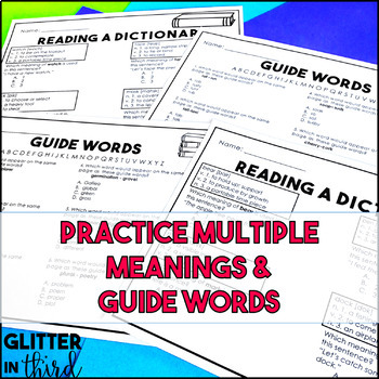 Free dictionary skills worksheets grade 3