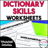 Dictionary Skills Worksheets & Printables