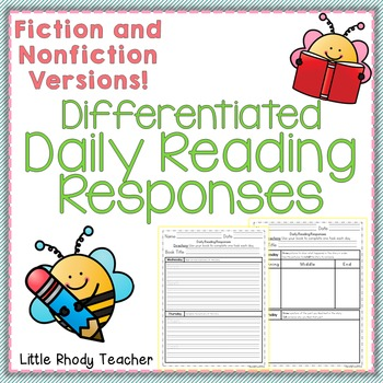 NO PREP! Differentiated Daily Reading Responses