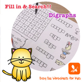 NO PREP Digraph Worksheets 2 - Fill in and Search!!
