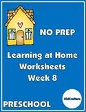 NO PREP Distance Learning Worksheets for Preschool – Week 8