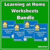 NO PREP Distance Learning Worksheets for Preschool – Weeks 5-8