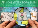 NO PREP Earth Day Crown Sliders BUNDLE: Speech Therapy Activities
