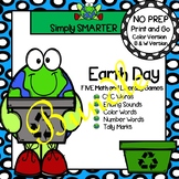 NO PREP Earth Day Themed Math and Literacy Games Bundle
