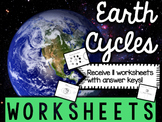 Earth Cycles - Science Worksheets & Printables