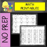 EASTER NO PREP Math Printables Kindergarten/First Grade