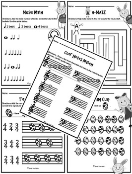 NO PREP Easter Music Activities For The Classroom